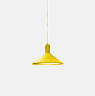 Torch Pendant Light - S3, Cone Yellow Shade with Yellow Cable