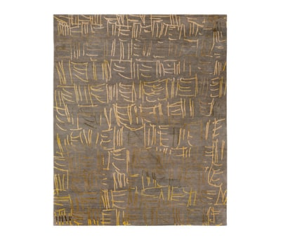 4-Minute Rug - Tally light grey by REUBER HENNING