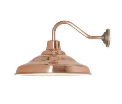 7200 School Wall Light, Polished Copper by Davey Lighting Limited