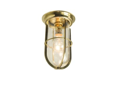 7203 Ship's Companionway With Guard, Polished Brass, Clear Glass by Davey Lighting Limited