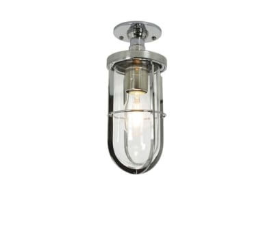7204 Weatherproof Ship's Well Glass Ceiling, Chrome, Clear Glass by Davey Lighting Limited