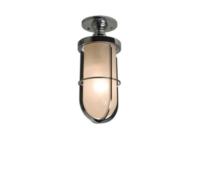 7204 Weatherproof Ship's Well Glass Ceiling, Chrome, Frosted Glass by Davey Lighting Limited