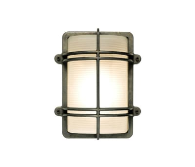 7373 Rectangular Bulkhead Fitting, Weathered Brass by Davey Lighting Limited