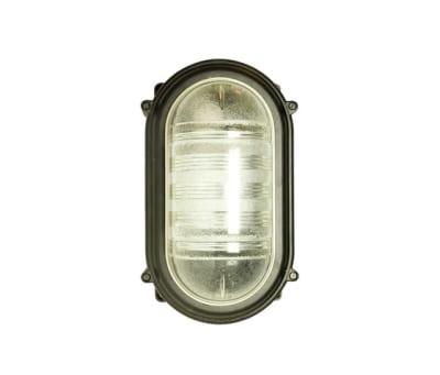 7530 Rectangular Bulkhead Fitting, E27, Black by Davey Lighting Limited