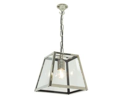 7636 Quad Pendant Internally Glazed, Small, Satin Nickel, Clear Glass by Davey Lighting Limited