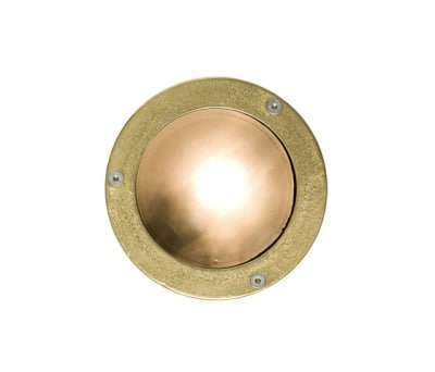 8034 Miniature Exterior Bulkhead, Plain Bezel, G9, Brass by Davey Lighting Limited