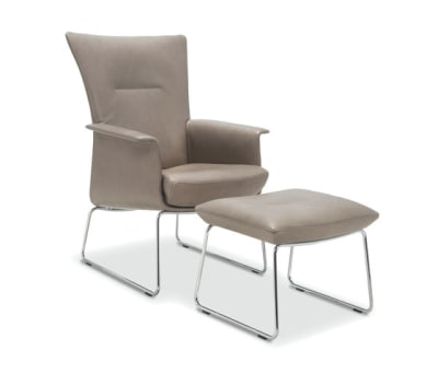 Aida Armchair with footstool by Jori