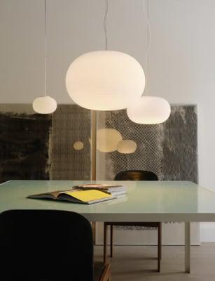 Bianca Suspension lamp Large by FontanaArte