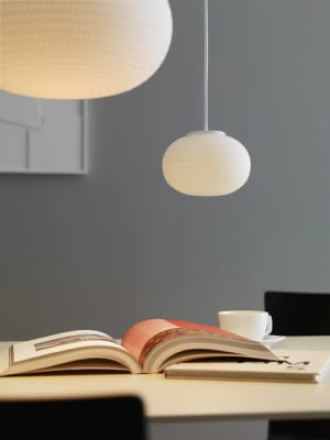Bianca Suspension lamp Small by FontanaArte