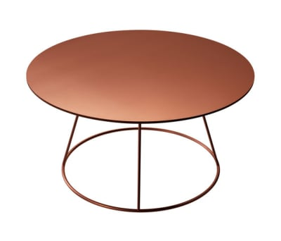 Breeze copper coffee table by Swedese