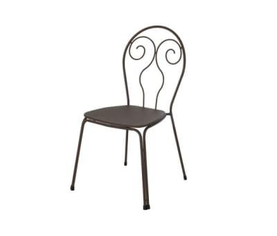 Caprera chair - set of 4 Indian Brown