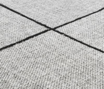 Crossline silver gray, 200x300cm