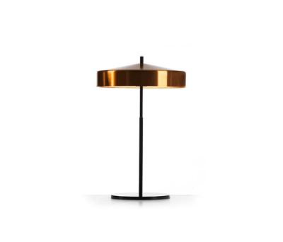 Cymbal 32 tablelamp copper black by Bsweden