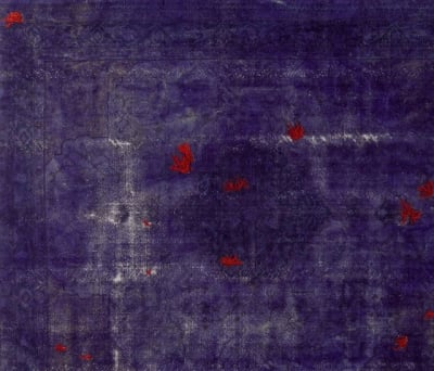 Decolorized Mohair dark purple by GOLRAN 1898