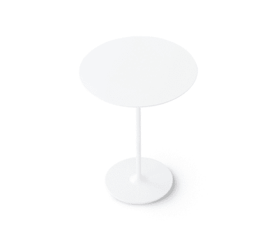 Dizzie | H 105 - Round base by Arper White Powdercoated Base, LM ø cm 79 White Top