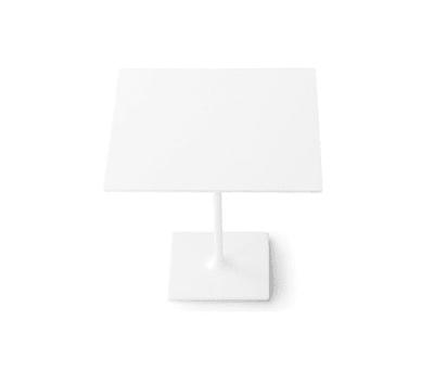 Dizzie | H 74 - Square base by Arper White Powdercoated Base, MDF MD cm 80x80 White Top
