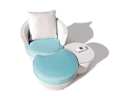 Eden Roc Combination with lounge chair | ottoman & a side table by Rausch Classics