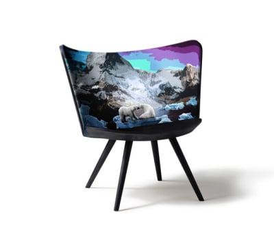 Embroidery Chair Winter by Cappellini