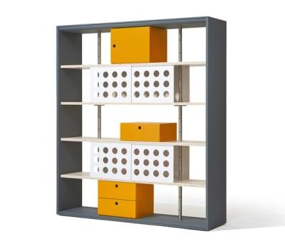 Frame shelving system by Lampert