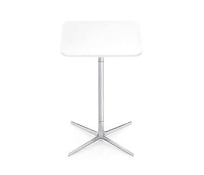 Fred | H 105 by Arper Polished aluminium base, MDF MD cm 60x60 Top