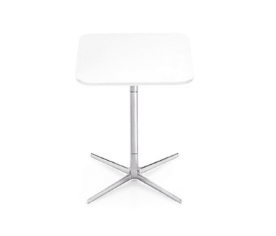 Fred | H 74 by Arper Polished aluminium base, MDF MD cm 60x60 Top