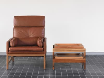 High Back Lounge Chair by BassamFellows