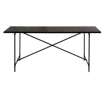 High Table BLACK on BLACK - Black Marble by HANDVÄRK