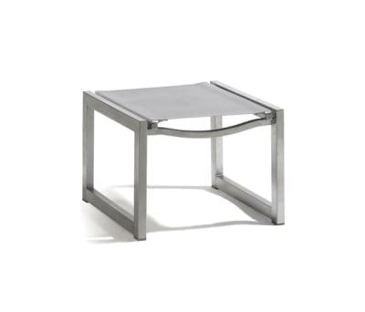 Latona textiles footstool/sidetable by Manutti