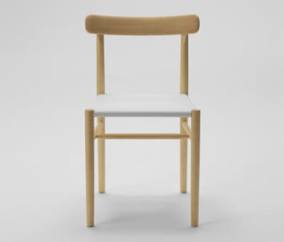 Lightwood Armless Chair (Mesh Seat) by MARUNI