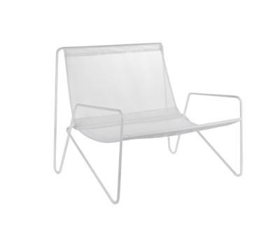 Lounge Armchair frame white/fabric white by Serax