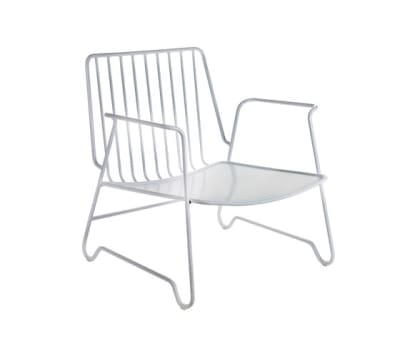 Lounge Armchair white with armrest by Serax