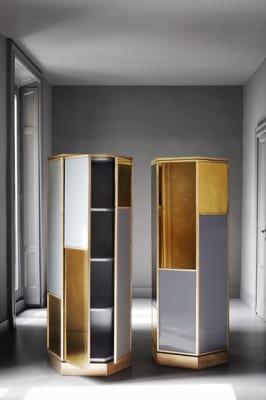 Ludwig Hexagonal cabinet by Meridiani