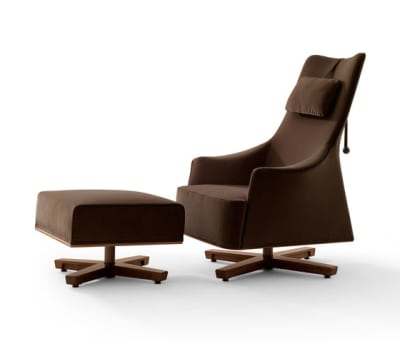 Mobius Wing Chair with Footrest by Giorgetti