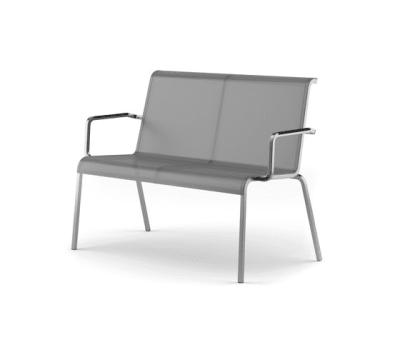 Modena bench stackable by Fischer Möbel