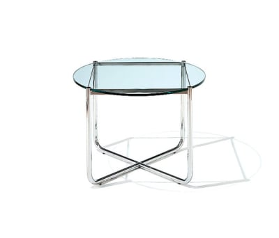 MR Table - Black Glass Top 72.5D x 52H cm