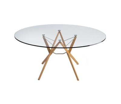 Orione   2337 Table Natural Oak Frame, Ø 125