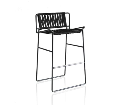 Out_Line Hand-woven barstool by Expormim