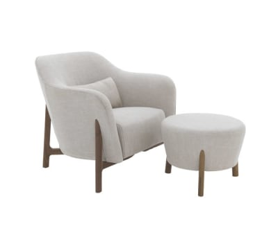 Pilotis armchair | pouf by De Padova