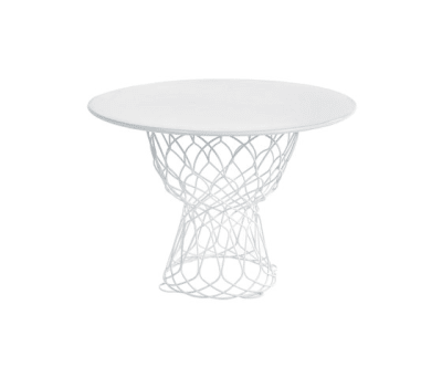 Re-trouvé round table; 105cm top Glossy White