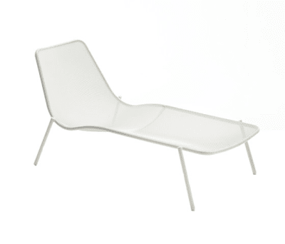 Round stackable sunbed Glossy White