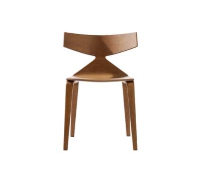 Saya Sled Base Dining Chair by Arper L0023 Wood