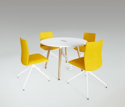 Scando Round conference table by Ergolain