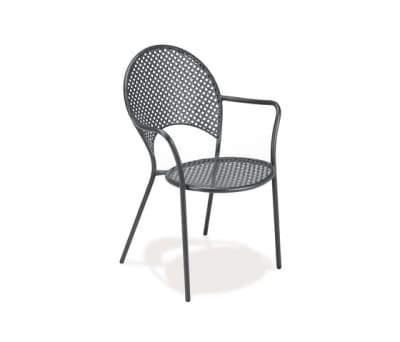 Sole armchair - set of 4 Antique Iron
