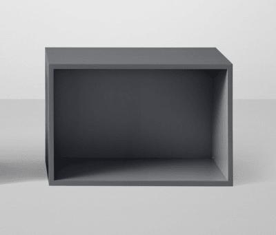 Stacked Shelf System Large with backboard Light grey