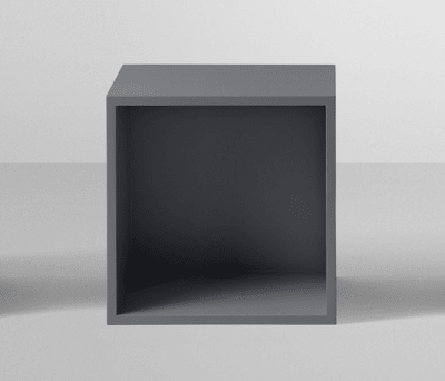 Stacked Shelf System Medium with backboard Ash