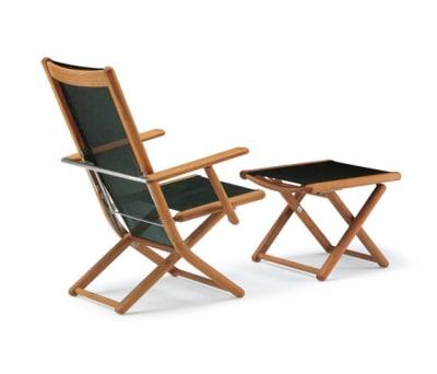Tennis armchair adjustable with footrest by Fischer Möbel