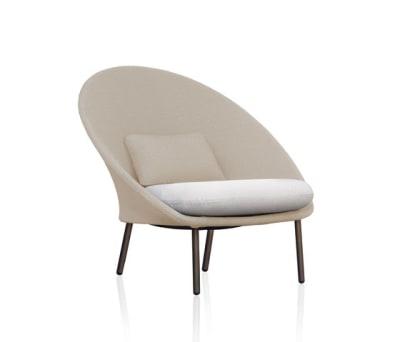 Twins Low armchair Batyline Senso by Expormim