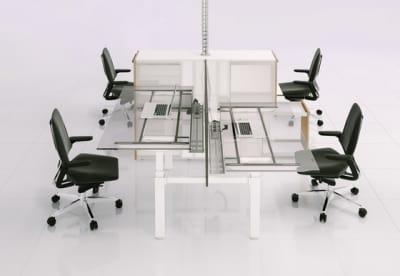 X-Ray Four-seat office desk by Ergolain