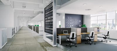 X-Ray Six-seat office desk by Ergolain