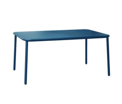 Yard rectangular table with aluminium top Blue